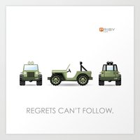 jeep Art Prints featuring Jeep by priby