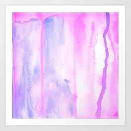 Pink and purple abstract watercolors Art Print