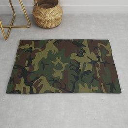 army green camo Rug
