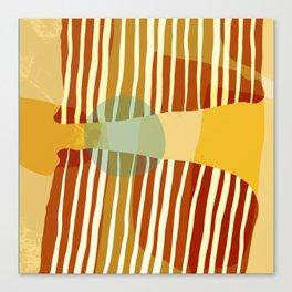 Mid Century Modern Abstract Design - Earthtones Canvas Print