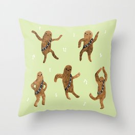 Wookie Dance Party Throw Pillow