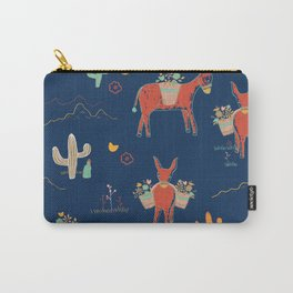 Pack Mule Pattern Carry-All Pouch