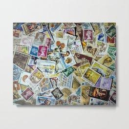 Postage Stamps Metal Print