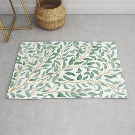 Green Leaf Pattern Rug