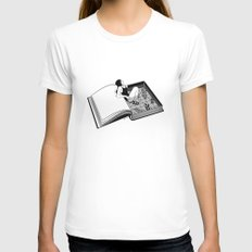 Drenched through my mind Womens Fitted Tee LARGE White