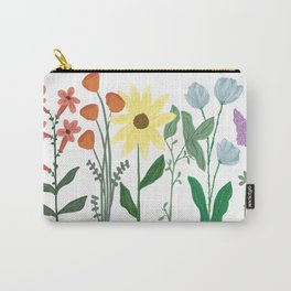 Row of Rainbow Wildflowers Carry-All Pouch