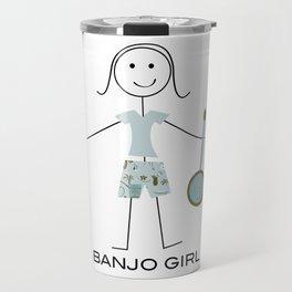 Funny Banjo Girl Travel Mug