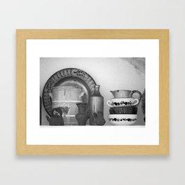 Pottery still life Framed Art Print