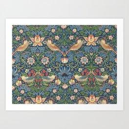 Strawberry Thief - Vintage William Morris Bird Pattern Art Print