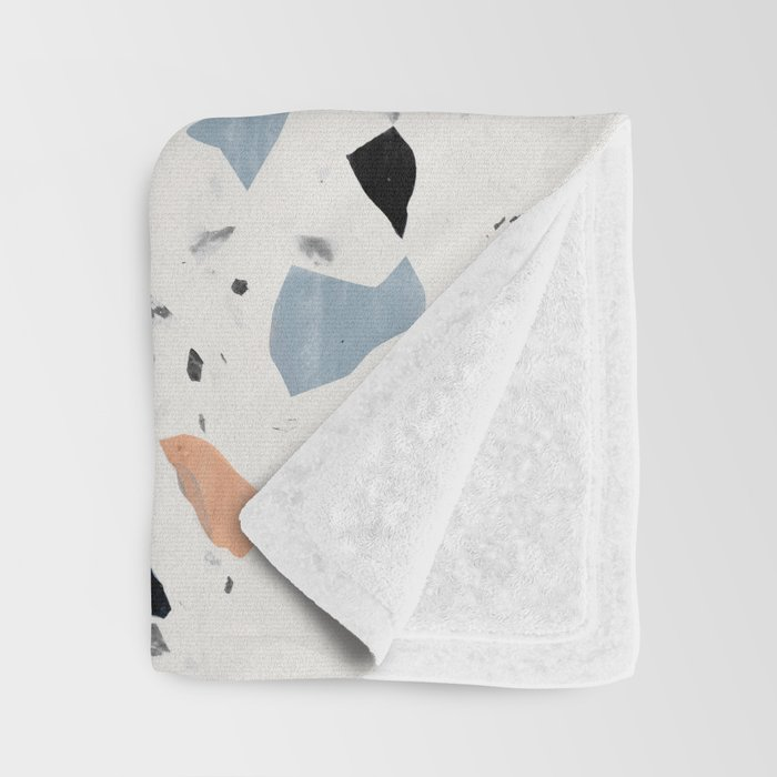 terrazzo pattern Throw Blanket