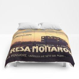 Vintage poster - Stresa-Mottarone Comforters