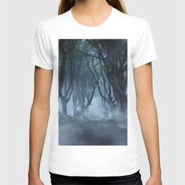 Very cold foggy morning at Dark Hedges T-shirt