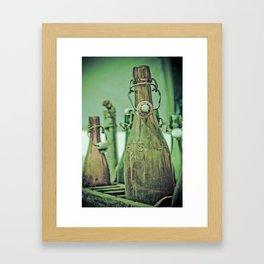 Old Bottles Framed Art Print