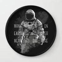 interstellar Wall Clocks featuring interstellar by Molnár Roland