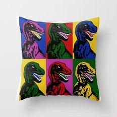 Dinosaur Pop Art Throw Pillow