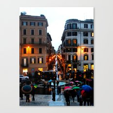 Rain in Rome in Colour Canvas Print