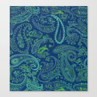 paisley Canvas Prints featuring  paisley  by Ariadne