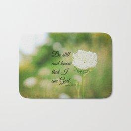 Psalm 46:10 Be Still Bath Mat