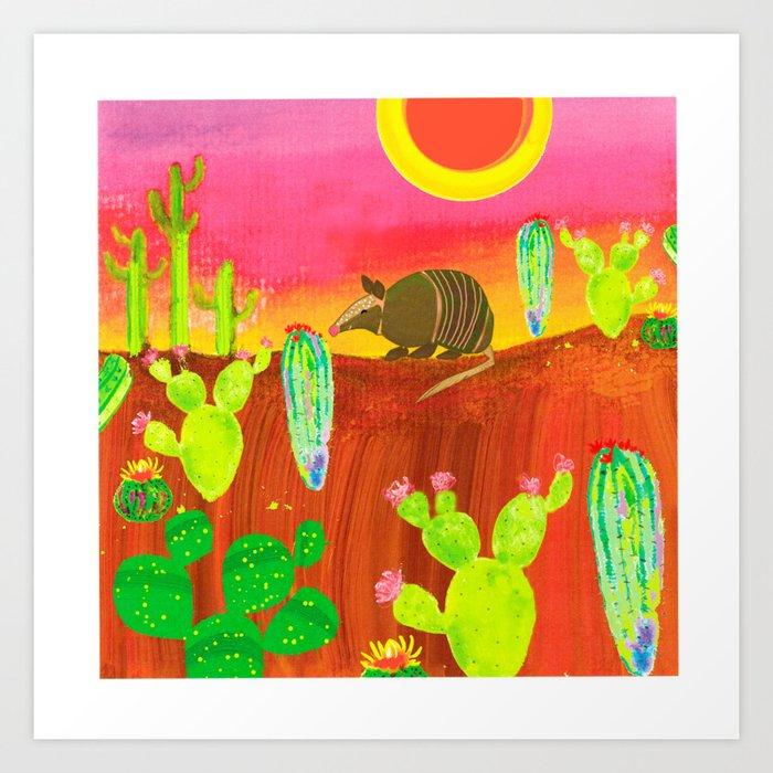 Armadillo Sunset Kunstdrucke