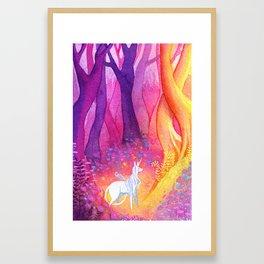 Unicorn Forest Framed Art Print