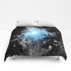Orion nebULa Black White Blue Space Comforters