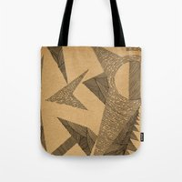 silence of the lambs Tote Bags featuring - silence - by Magdalla Del Fresto