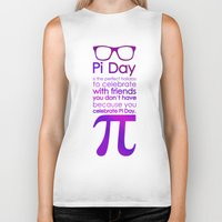 pi Biker Tanks featuring Pi Day by Square Lemon