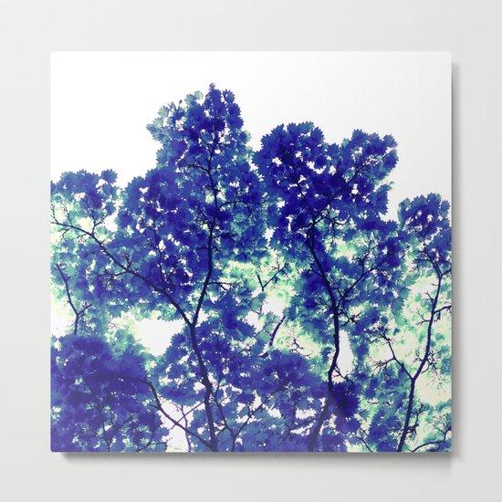 blue tree VIII Metal Print