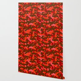 Camouflage (Red) Wallpaper