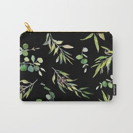 Eucalyptus and Olive Pattern  Carry-All Pouch