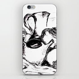 Clay and Cloth Still Life iPhone Skin