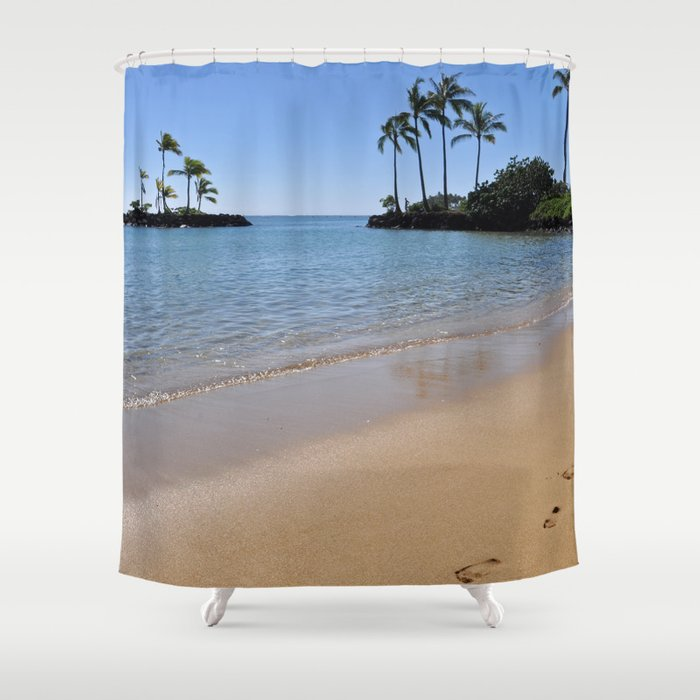 Perfect Footprints In The Sand Shower Curtain
