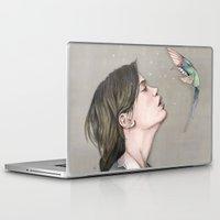 pixies Laptop & iPad Skins featuring The Pixies by Talia Gavish