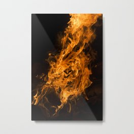 On Fire Metal Print