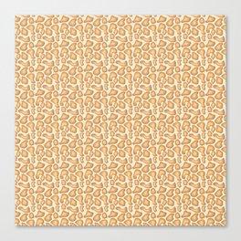 Giraffe dots Canvas Print