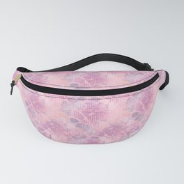 Pink abstract flowers Fanny Pack