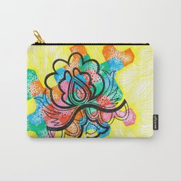 Black flower and colors Carry-All Pouch