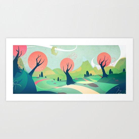 The winding road Art Print