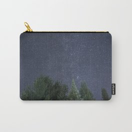 Pine trees with the northern michigan night sky Carry-All Pouch