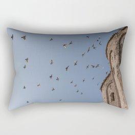 Birds Flying on the Blue Sky, Zadar Croatia Rectangular Pillow