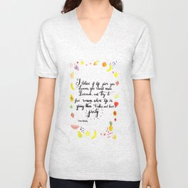 Words to live by Unisex V-Neck