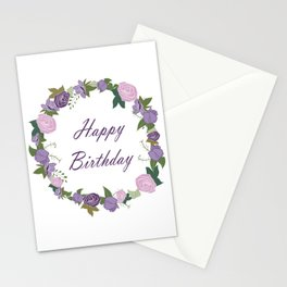 Happy Birthday, Rose Garden Stationery Cards