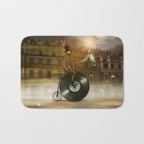 Music Man in the City, by Eric Fan and Viviana González Bath Mat