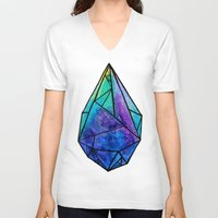 prism V-neck T-shirts featuring Teardrop Prism by Hayley Lang