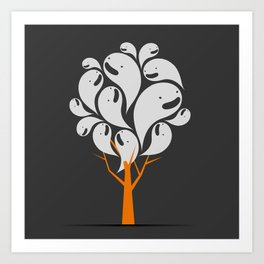 Tree Ghost Art Print