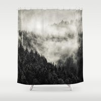school Shower Curtains featuring In My Other World // Old School Retro Edit by Tordis Kayma