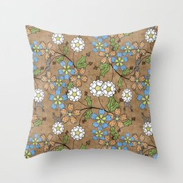 Vintage floral pattern. Throw Pillow