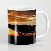 dragon Mugs featuring Firey Dragon  by Chris' Landscape Images & Designs