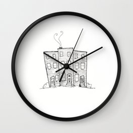 Jellybean Row St. John's, Newfoundland Wall Clock