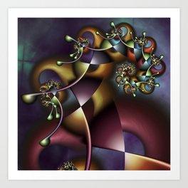 The Joker Multicolored Fractal Spiral Art Print